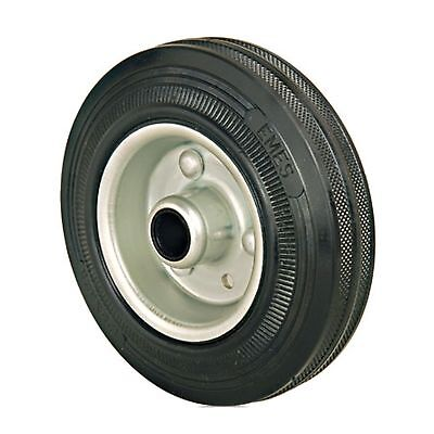 Set Of 2- 125mm Rubber Wheels Needle Bearings - Replacement Trolley Wheels • 11.50£