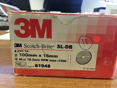 3M 61948, 100mm Scotchbrite Surface Conditioning Disc SC-DH, Fibre Back, 11Pcs • 30£