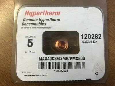 Hypertherm 120282 Shielded Nozzle 50Amp, Pack 5 • 15£