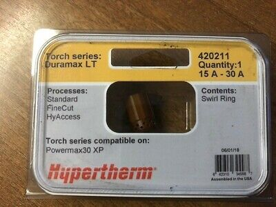 Hypertherm 420211 Swirl Ring, Powermax30 XP, Duramax, 1 Pc • 15£