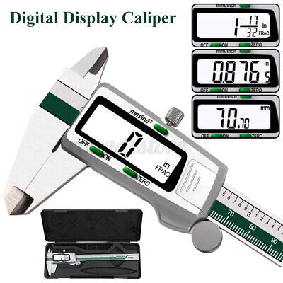 Digital Vernier Caliper Micrometer Tool 6  150mm Electronic LCD Stainless Steel  • 16.38£