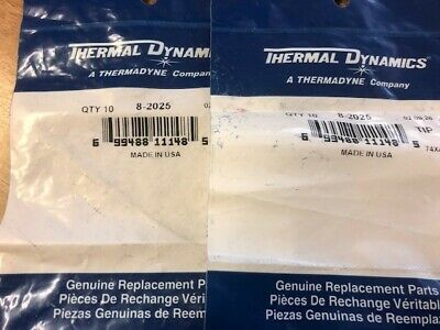Thermal Dynamics 8-2025 Tips, Pack 10 • 30£