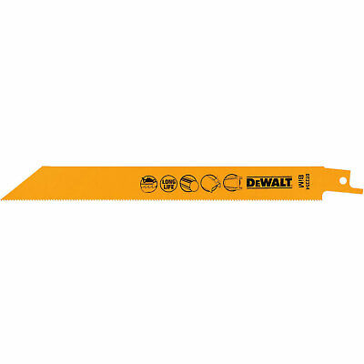 DeWalt Bi Metal Reciprocating Saw Blade For Metal 203mm Pack Of 5 • 19.95£