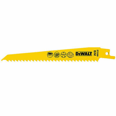 DeWalt HSC Fast Cuts Wood And Nails Reciprocating Saw Blade 152mm Pack Of 5 • 22.95£