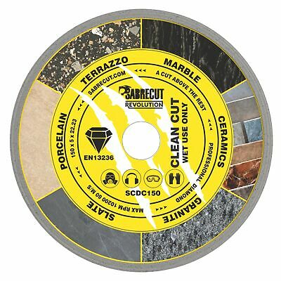 SabreCut 150mm Continuous Rim Disc Diamond Blade For Grinders And Tile Cutters • 9.99£