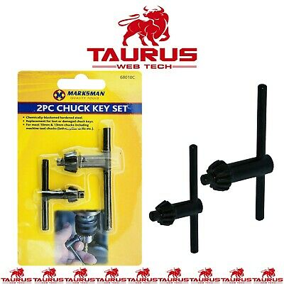 2x  CHUCK Key Set Drill Machine Lathes Pillars Tools Home Garage DIY UK FREE P&P • 2.89£