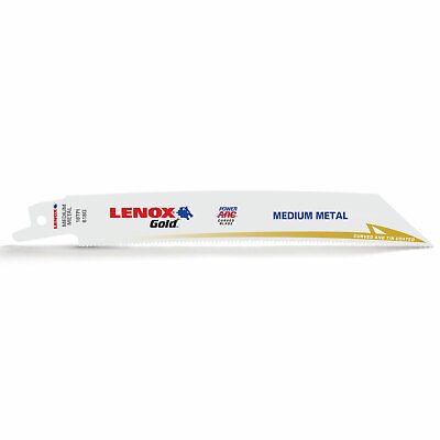 Lenox Gold 18TPI Medium Thickness Metal Cutting Reciprocating Saw Blades 152mm P • 21.95£