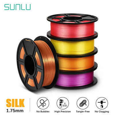 SUNLU 3D Printer Filament PLA PLUS SILK 1.75mm 1KG/2.2LB Printing Supplies • 16.80£