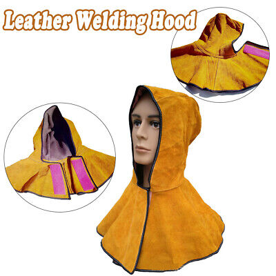 New Heavy-Duty Leather Welding/Welder Work Flame Spark Safety Hood/Cover - Y006 • 17.29£