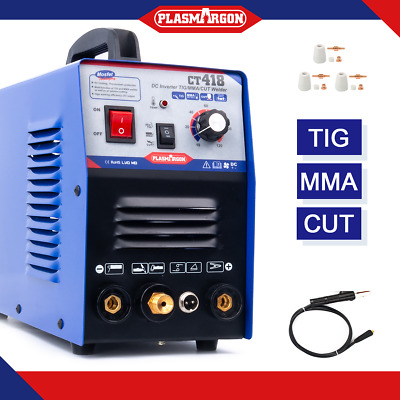 TIG MMA Cut Plasma Cutter Welder Inverter Stick Welding Machine 3in1 CT312 • 180£