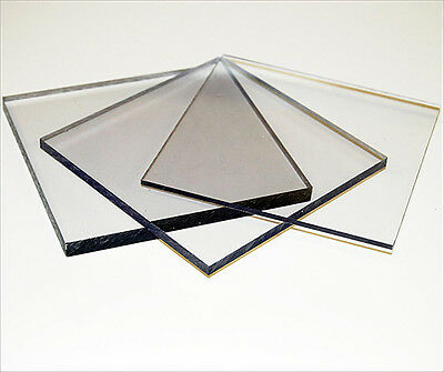 Clear Polycarbonate Lexan Makrolon Palsun Sheet Solid Panels Cut To Size • 21.32£