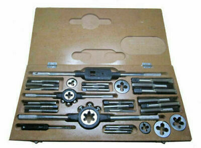 Tap And Die Set 1/4 To 3/4 British Standard Fine- Boxed Complete Bsf • 68.50£