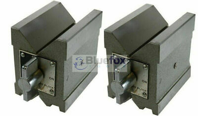 Precision Magnetic V Block Matched Pair V Both Side With-High-Magnetic-Force • 80.50£