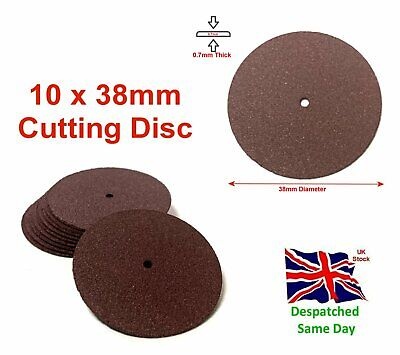 38mm Cutting Disc 10pc Resin Wheels Blades Sanding Rotary Tools • 4.49£