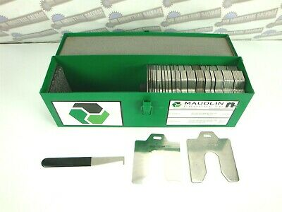 MAUDLIN Deluxe MSD5-DK SLOTTED SHIM KIT 5  X 5  (336 Pcs .001 125 W/TOOL • 573.84£