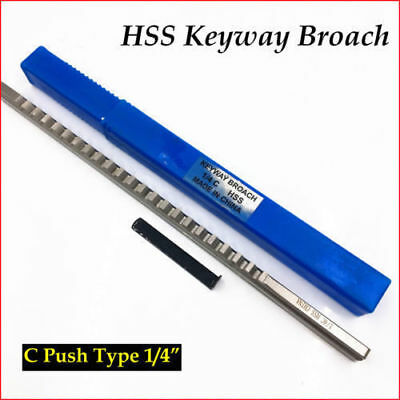 1/4  C Push Type Keyway Broach Inch Size HSS For CNC Tool Free Shipping • 24£