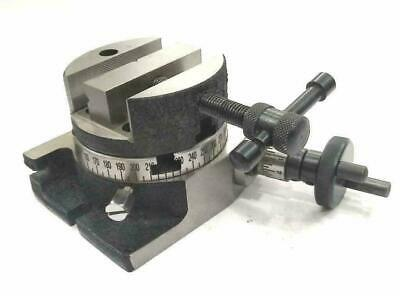 Rotary Table Horizontal Vertical 3 -80mm + Round Vice 80mm High Quality • 63.99£