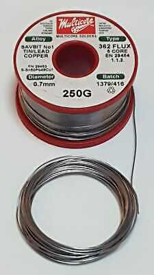 ERSIN MULTICORE **SAVBIT** Mildly Activated 5 Flux Cored Soldering Wire UK Made! • 4.99£