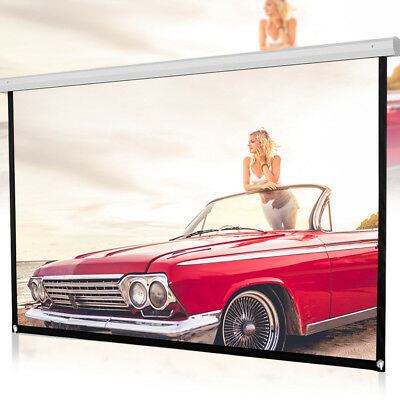 5 Scales 16:9 HD Projector Screen Home Cinema Theater Projection Portable White • 19.78£