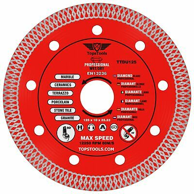 1 X Mesh Turbo Diamond Clean Thin Cutting Disc For Grinder Tiles 125mm 5  • 8.99£
