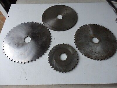 Joblot /collection Of 4 Slitting Saws Milling Cutters • 10£