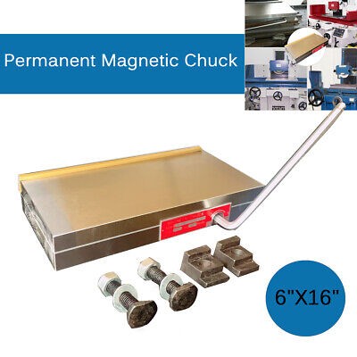 16'' X6'' Powerful Permanent Magnetic Chuck Magnet Table For Grinding Machine UK • 169.55£