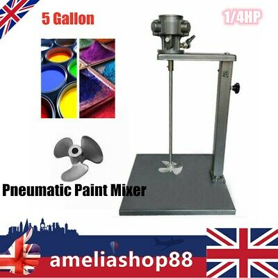 1/4HP 5 Gallon Pneumatic Paint Mixer W/ Stand 45~ 88cm For Tank Barrel • 110.46£