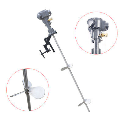 Portable Pneumatic Paint Mixer AirDrill PaintBlender Agitator Stirrer+BracketNew • 144£