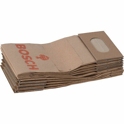 Bosch Paper Dust Bags For PEX GEX And PSS Sanders Pack Of 10 • 27.95£
