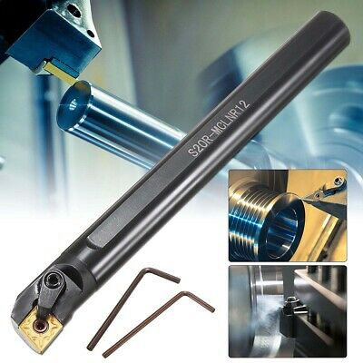 S20R-MCLNR12 Boring Bar Holder Lathe Turning Tool + CNMG1204 Blade Insert+Wrench • 28.99£