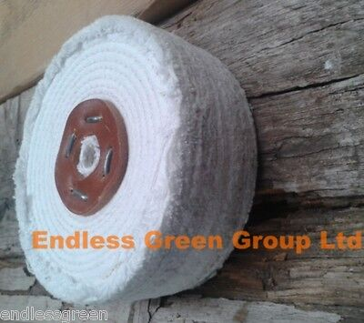 STITCHED COTTON Buffing Wheel - Firm 4 Section Polishing Mop 6  X 2       C150/4 • 18.50£