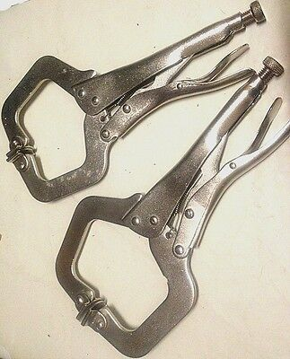 2 Pc -11  C Clamp Locking Pliers With Pad(new)  • 13.74£
