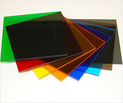 Tinted Colour Perspex Acrylic Plastic Sheet Cut To Size Window Transparent Glass • 22.80£