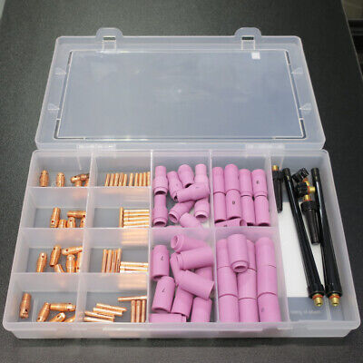 Professional Tig Torch Standard Spares Kit For WP9, WP20 (4) • 60£