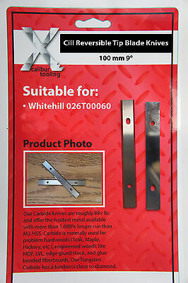 100mm 9degree Cill Reversible Knives To Suit Whitehill 026T00060 1 Pair • 31.78£