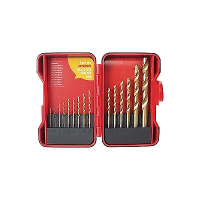 15 Piece Hss Drill Bit Set Titanium Coated In Storage Case Professional Quality • 6.99£