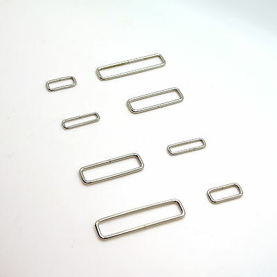 Metal Rectangle Loop Rings Wire Formed Buckles For Webbing Strap Tape 20 - 55 Mm • 14.52£