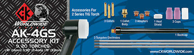 Complete CK Standard Gas Saving Kit 1.6, 2.4, 3.2mm For WP9, 20, 230 TIG Torches • 83.52£