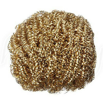 1pc Soldering Solder Iron Tip Cleaner Brass Cleaning Wire Sponge Ball Gold • 1.93£