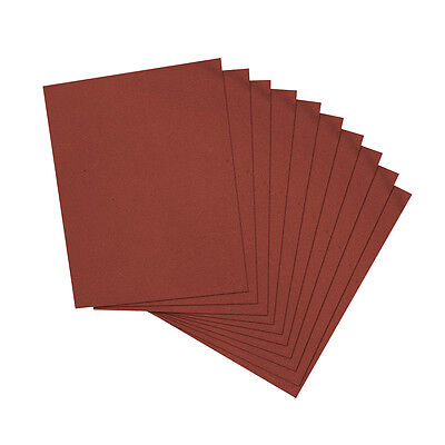 10 X Emery Cloth Sheets Sandpaper For Metal Sanding Various Grit • 5.79£