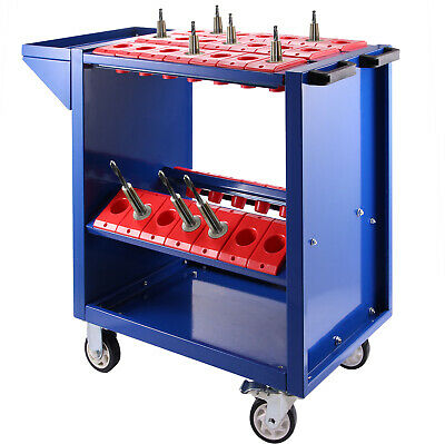 BT40 CNC Tool Trolley Cart Holders Toolscoot 4 Wheels Workstation Storage • 56.85£
