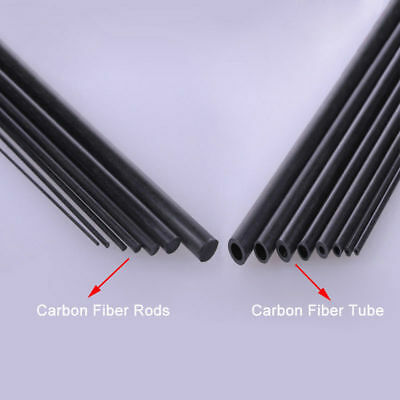 Carbon Fiber Tube & Rods Round For RC Airplane 1.8mm 2mm 3mm 6mm You Pick Sizes • 21£