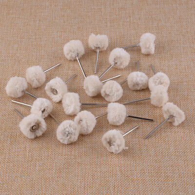20pcs 2.35mm Dental Wool Brushes Polishing Buffing Wheels Fit For Rotary Tools • 6.22£