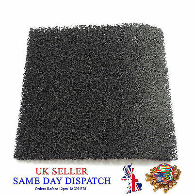 Activated Carbon Smoke Filter Pad Black Universal Foam Air Sponge Fume Extractor • 3£