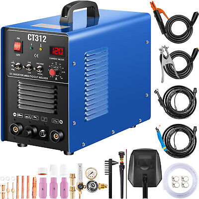 CT312 3IN1 Welding Machine Digital TIG/MMA/ Plasma Cutter Welder & Accessories • 189.97£