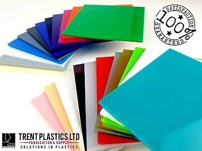 3mm Colour Perspex Acrylic Sheet Plastic Panel 55 DIFFERENT COLOURS A5 A4 A3 • 18.55£