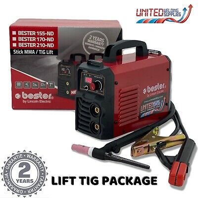 Lincoln Bester 155-ND MMA / Lift Tig / Arc Welder Package - 230v, 1ph • 238£
