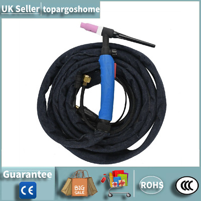 3.7m WP-17FV Air-Cooled TIG Welding Torch Flexible Rubber Torch With Valve Kits • 31.99£