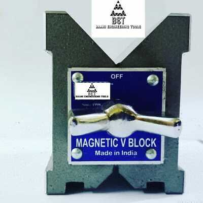 Magnetic V Block 4  -100x95x75mm With Both Sided V High Accuracy Workholding 1Pc • 93.32£