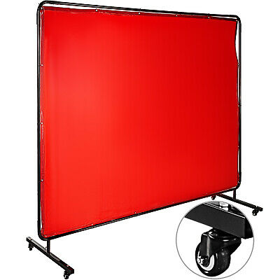 Welding Curtain Welding Screen With Frame Flame-resistant Vinyl 4 Wheels 8' X 6' • 102.98£